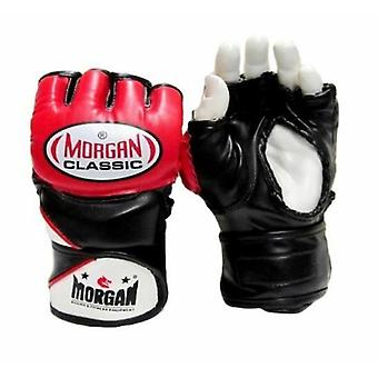 Morgan V2 Endurance Mma und X Trainingshandschuhe Schwarz rot Rohrleitungen