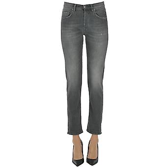 Atelier Cigala's Ezgl457013 Women's Grey Cotton Jeans