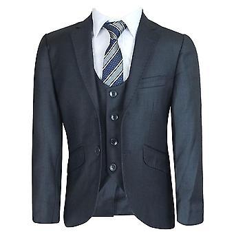 3 Piece Charcoal Grey Boys Suit