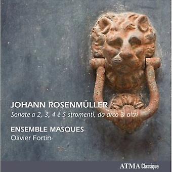 ヨハン ・ ローゼンミュラー - ヨハン Rosenm フィラーを配合した: ソナタ、2, 3, 4 の 5 Stromenti、Da アルコ ・同 [CD] アメリカ インポート