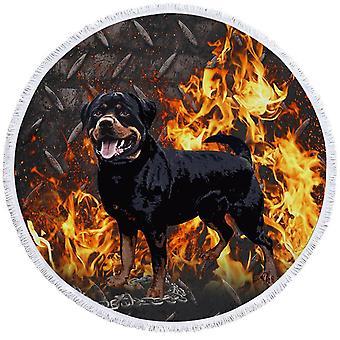 صعبة Rottweiler الكلب بيتش منشفة