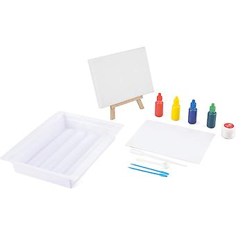 toyrific made it canvas marbling kit