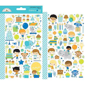Doodlebug Design Party Time Mini Icons Stickers