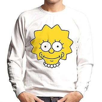 The Simpsons Lisa Face Men's Sweatshirt