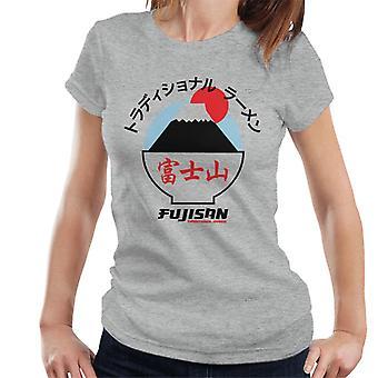 The Ramen Clothing Company Fujisan Traditional Ramen Black Text Women's T-Shirt