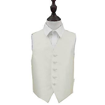 Ivoor effen Check bruiloft vest voor jongens