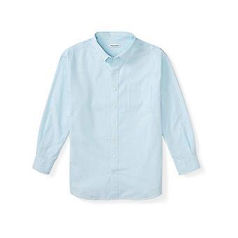 Essentials Men's Big & Tall Long-Sleeve Pocket Oxford Shirt fit by DXL...
