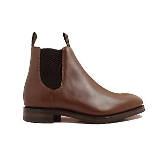 Loake Chatsworth Brown Calf Leather Mens Chelsea Boots
