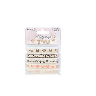 Dovecraft Happy You Cotton Ribbon Pack