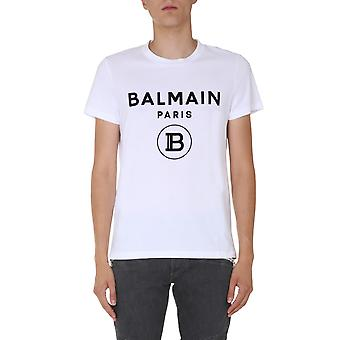 Balmain Uh01601i3940fa Men's White Cotton T-shirt