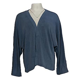 LOGOTIPO por Lori Goldstein Women's Top Shrug With Dolman Sleeves Blue A375415