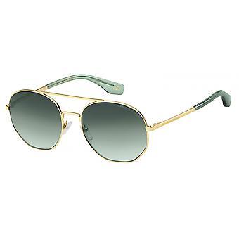 Sunglasses Unisex around Double Bridge Gold/Green Course