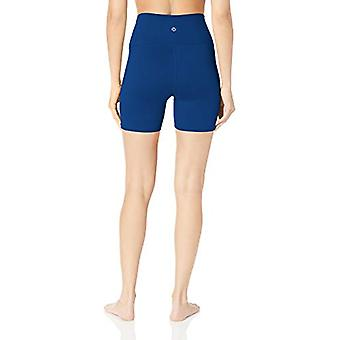 """Core 10 Women's All Day Comfort High Waist Short-5"""", Brite Blue, Small"""