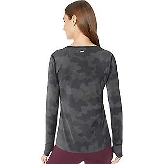 Essentials Women's Studio Long-Sleeve Lightweight T-Shirt, -camo grigio,...