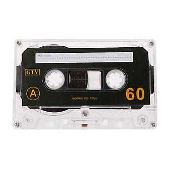 Standard Cassette Blank Tape For 60 Minutes Audio Recording