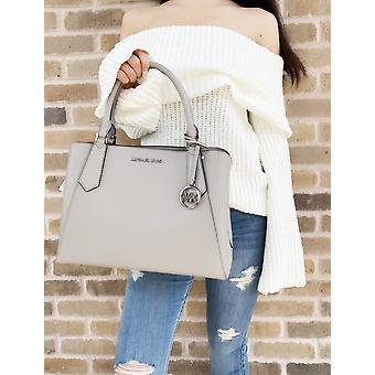 Michael kors kimberly large east west satchel pearl grey