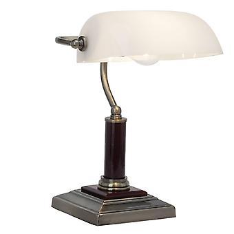 LYSANDE lampa Bankir bordslampa mässing antik | 1x A60, E27, 60W, lämplig för normala lampor (medföljer ej) | Skala