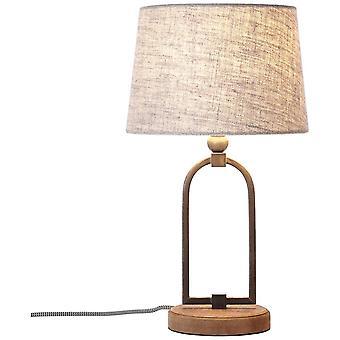 BRILLIANT Lampe Sora Tischleuchte 25cm beige | 1x A60, E27, 40W, g.f. Normallampen n. ent. | Mit Schnurzwischenschalter