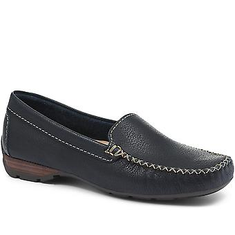 Jones 24-7 Womens Leather Moccasin Loafer