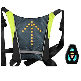 Bicycle led indicator back adjustsable vest - with wireless controller