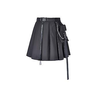 Dark In Love Pleated Utility Mini Skirt