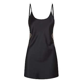 Negligé With Lace - Black/Gold