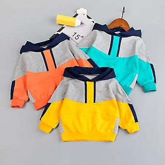 Toddler Infant Baby Hoodie Sweatshirt Kids Boys Patchwork Toamna Casual Fashion