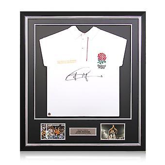Jonny Wilkinson allekirjoitti Englannin rugbypaidan. Deluxe-kehys