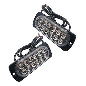 12v-24v 18w Car Truck Emergency Light Flashing Firemen Lights -12led Car-styling Ambulance Police Light