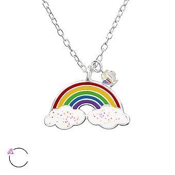 Regenbogen - 925 Sterling Silber Ketten - W32741x