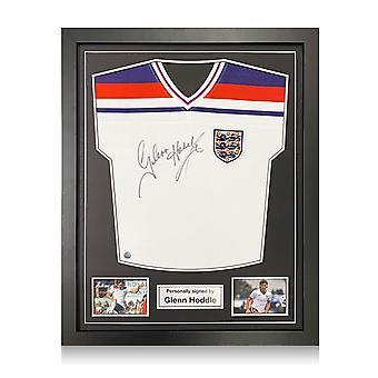 Glenn Hoddle ondertekende Engeland 1982 Voetbalshirt. Standaardframe