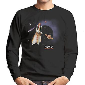 NASA Kennedy Space Centre Rocket Blast Men's Sweatshirt