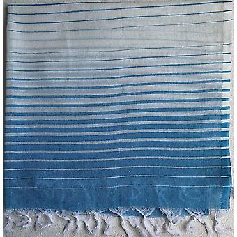 Aqua Perla Palm Turkkilainen pyyhe Sininen Peshtemal Puuvilla