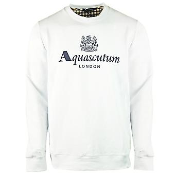 Aquascutum Waterfield Logo White Sweatshirt