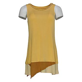 LOGO par Lori Goldstein Women-apos;s Top (XXS)Knit Tank Yellow A284042