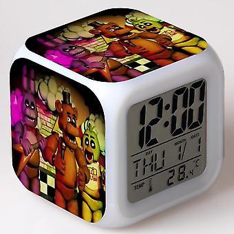 Colorful Multifunctional LED Children's Alarm Clock -Cinco noites no Freddy #22
