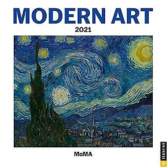 Moderne kunst 2021 Mini Wall Kalender