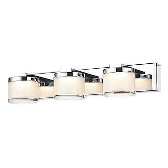 Moderne LED-wandlamp chroom, warm wit 3000K 630lm