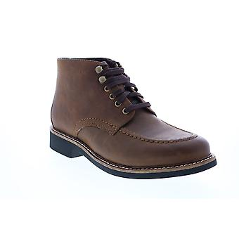 Bostonian Walker Mid  Mens Brown Leather Lace Up Chukkas Boots