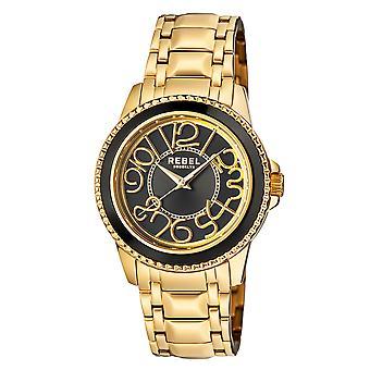 Rebel Unisex Williamsburg Black Dial Stainless Steel Watch