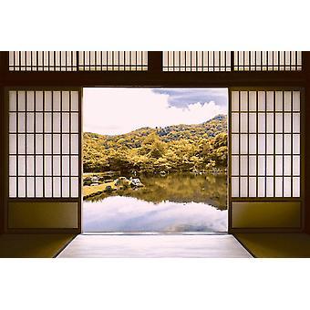 Photo Wall Mural Japanese Pond Garden