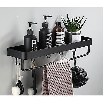 Bathroom Shelf With Towel Bar- Space Aluminum Corner Shelves