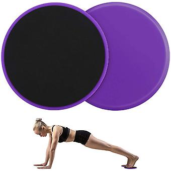 2 Curseurs d'exercice de forme physique de PCS Glissent des disques noyau de coordination de force musculaire équipement abdominal d'entraînement pour l'extérieur à la maison