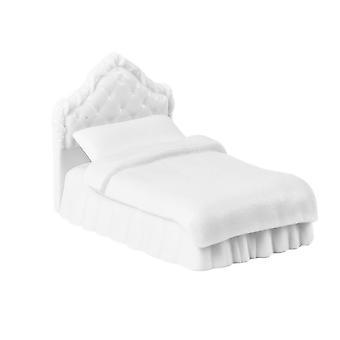 Dollhouse Pojedynczy podwójne łóżko mini meble łóżko sypialnia do dekoracji DIY