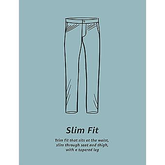 Essentials Men's Slim-Fit Falten-resistente Flache-Front Chino Hose, Silber, 32W x 30L