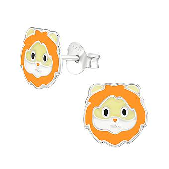 Lion - 925 Sterling Silver Colourful Ear Studs - W38231x