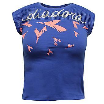 Diadora Girls Tank Top Sleeveless Summer Vest Blue T Shirt 102.172739 60046 A77C