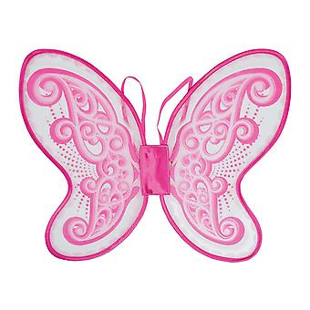 Bristol Nyhed Voksne Unisex Pink Butterfly Wings