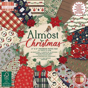 Primera edición Casi Navidad 6x6 pulgadas de papel Pad