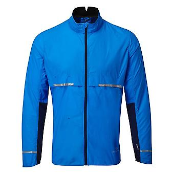 Ronhill Tech Tornado Hombres Ligero y Ultra Transpirable Windproof Chaqueta de Running Atlantic/Deep Navy